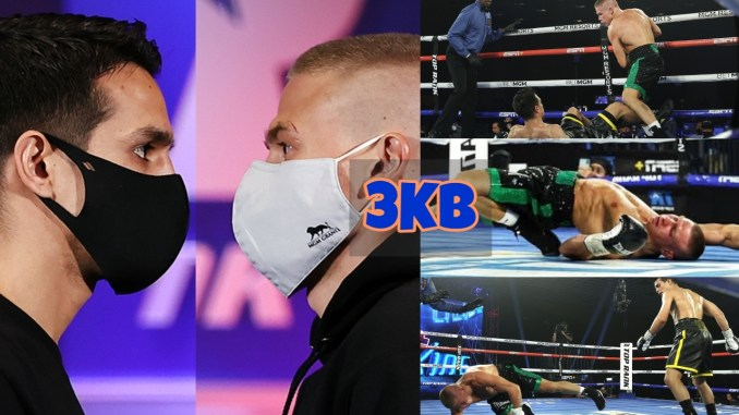 Jose Zepeda vs Ivan Baranchyk knockdown photo highlights.