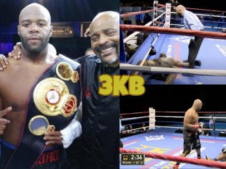 Trevor Bryan knocks Bermane Stiverne down three times.