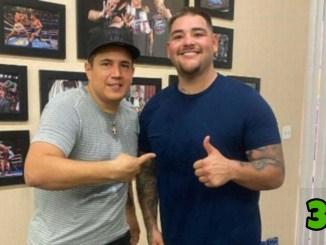 Eddy Reynoso (left) with Andy Ruiz