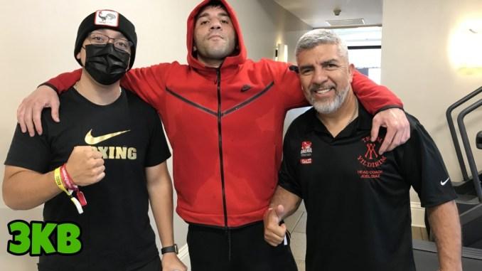 Avni Yildirim (center) with Coach Joel Diaz (right)