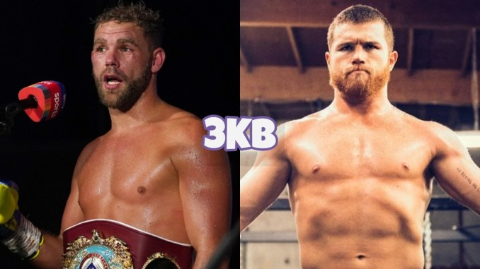"Billy Joe Saunders (left), Saul ""Canelo"" Alvarez"