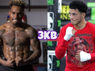 Jermall Charlo (left), David Benavidez