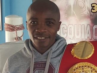 IBF World Flyweight champion Moruti Mthalane