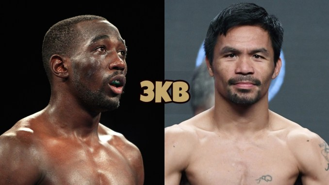 Terence Crawford (left), Manny Pacquiao