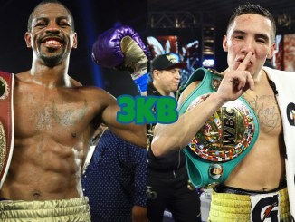 WBO Junior Lightweight champion Jamel Herring, WBC Junior Lightweight champion Oscar Valdez