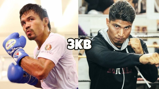 Manny Pacquiao (left), Mikey Garcia