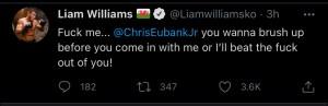 Liam Williams warns Chris Eubank Jr about fighting him