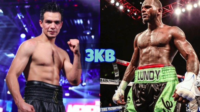Jose Zepeda poses for camera after victory; Hank Lundy looks frustrated.