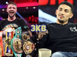 Josh Taylor with all four belts; Teofimo Lopez shrugs off media question.