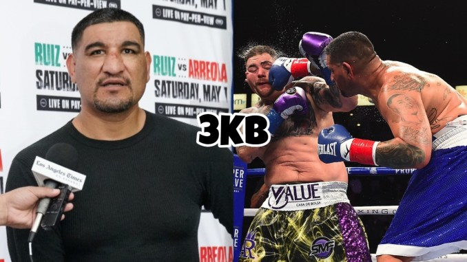 Chris Arreola, Chris Arreola punches Andy Ruiz in their May heavyweight bout