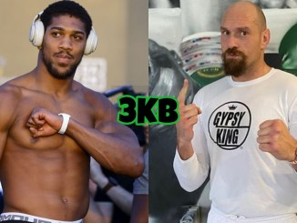 Anthony Joshua (left), Tyson Fury