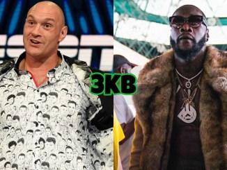 WBC World Heavyweight champion Tyson Fury (left), Deontay Wilder