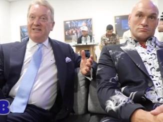 Frank Warren with WBC World Heavyweight champion Tyson Fury