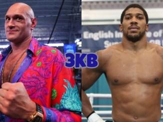 WBC World Heavyweight champion Tyson Fury (left), Unified Heavyweight champion Anthony Joshua