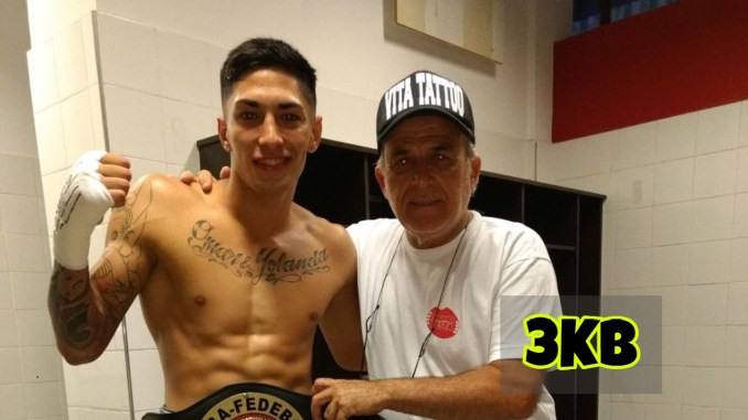 Jeremias Ponce with head trainer.