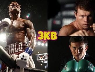 WBC Middleweight champion Jermall Charlo, unified super middleweight champion Canelo Alvarez, IBF Middleweight champion Gennady Golovkin