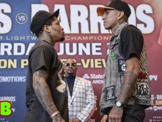 Two-divisional champion Gervonta Davis and WBA Regular super lightweight champion Mario Barrios face-off