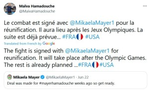 Maïva Hamadouche announces signing of unification bout against Mikaela Mayer