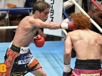 Masayuki Ito punches Valentine Hosokawa in their July 2021 lightweight bout