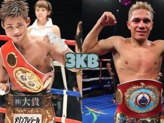 WBA Super world light flyweight champion Hiroto Kyoguchi, WBO world light flyweight champion Elwin Soto