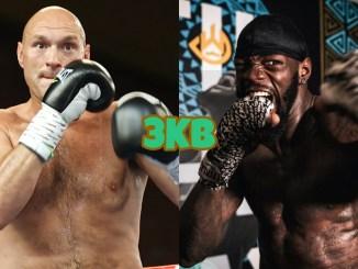 WBC heavyweight champion Tyson Fury, Deontay Wilder