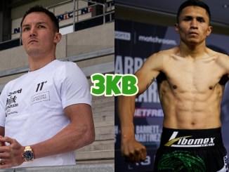 Featherweight boxer Josh Warrington, Mauricio Lara