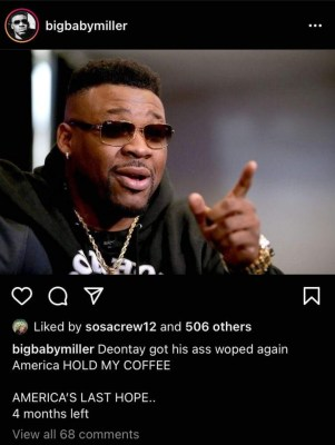 Jarrell Miller says he is the last hope for American heavyweights