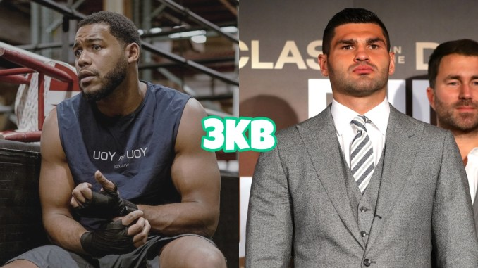 Heavyweight Michael Hunter in the gym, Filip Hrgovic at a fight press event
