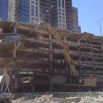 Nicollet and Fourth, Parking Ramp coming down for Xcel Energy HQ (photo: UrbanMSP)