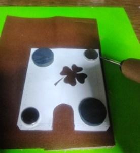 型紙を楽に革に転写する方法