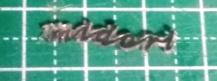 プラ板を加熱後の文字