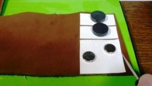 型紙を革に転写