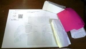 試作品と型紙