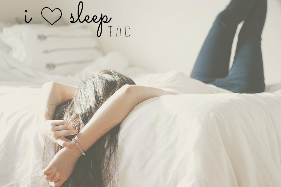 'I love sleep' tag