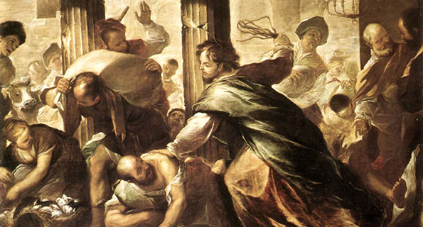 Christ Cleansing the Temple by Giordano