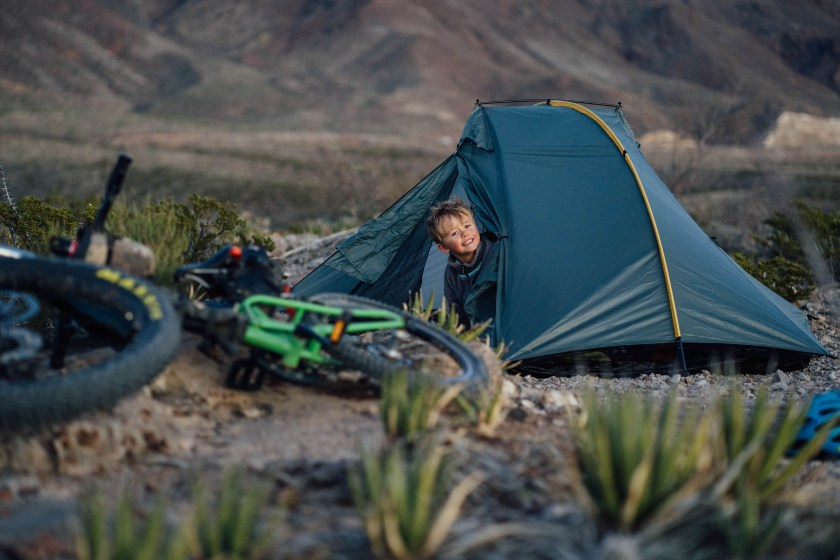 Family camping and bike touring