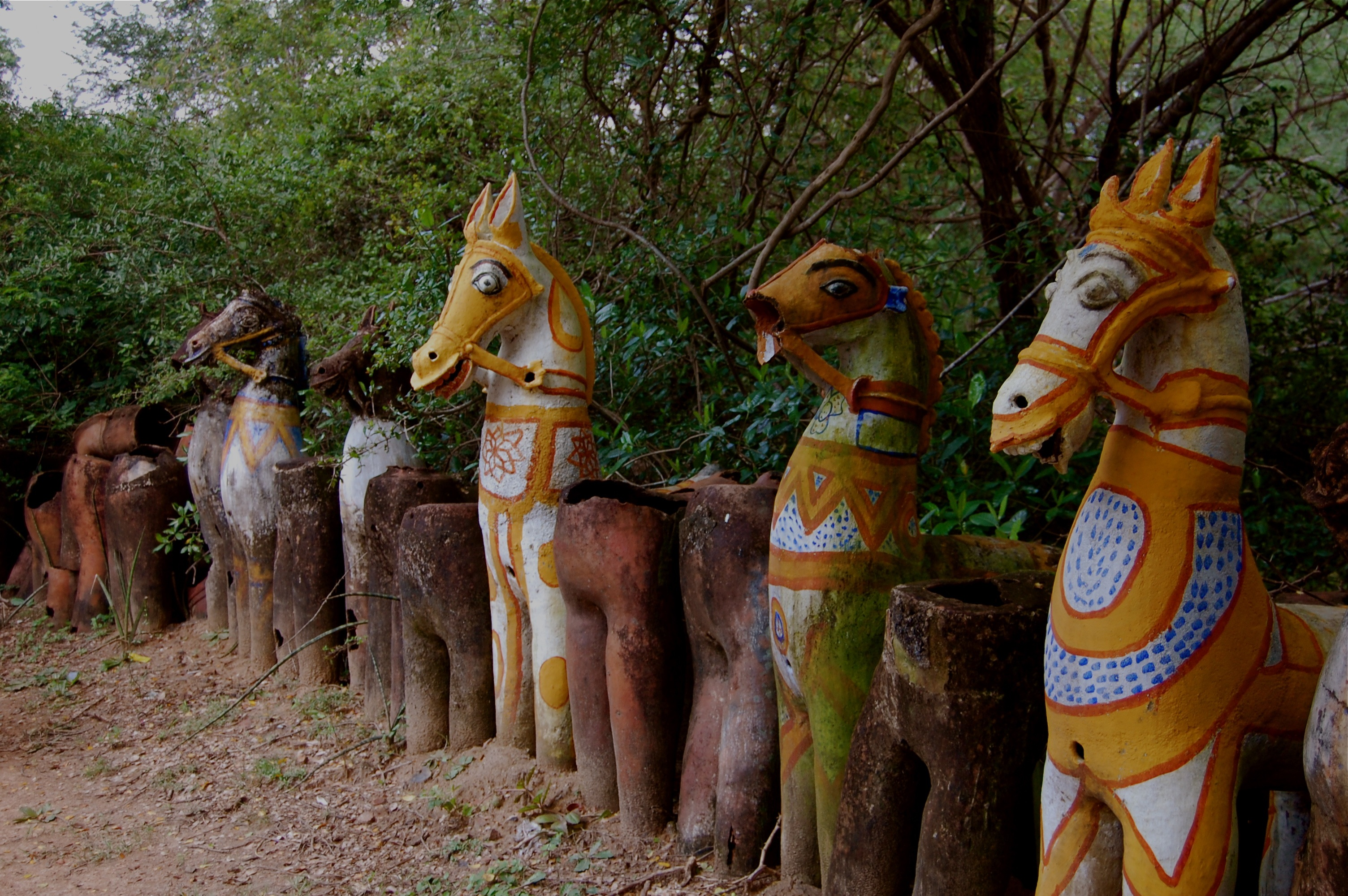 Clay Horses And Fertility Wishes At A Tree Temple Near Pudukkottai Second Stop On The Roadtrip