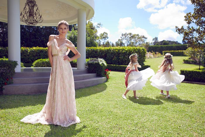 Garden Wedding Dresses For The Bride And Her Girls