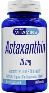 We Like Vitamins All-Natural Non-GMO Astaxanthin - FREE SHIPPING with AMAZON PRIME