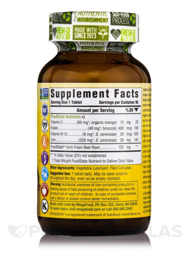 HR All Natural Non-GMO Blood Builder - supplement facts