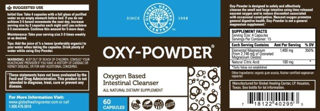 Oxy-Powder Supplement Facts