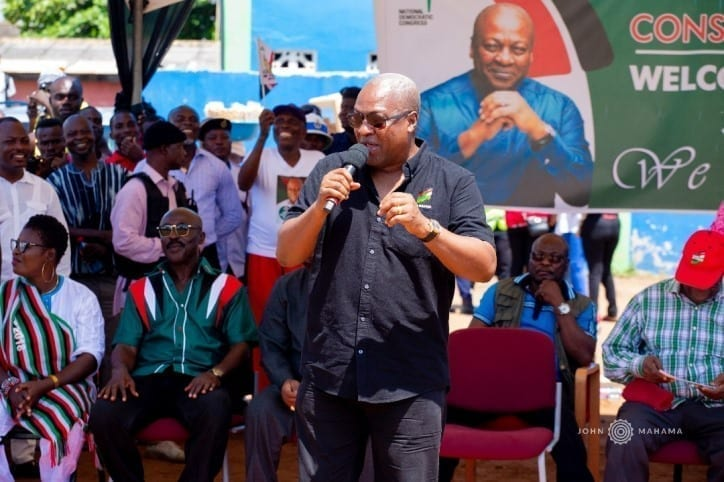 Mahama campaigns in 9 constituencies in Greater Accra
