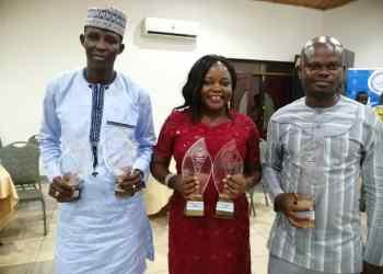 [L-R] Ibrahim Abubakar, Beatrice Spio-Garbrah and Benjamin Aidoo