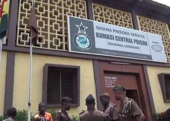 File: The Kumasi Central Prison in the Ashanti Region