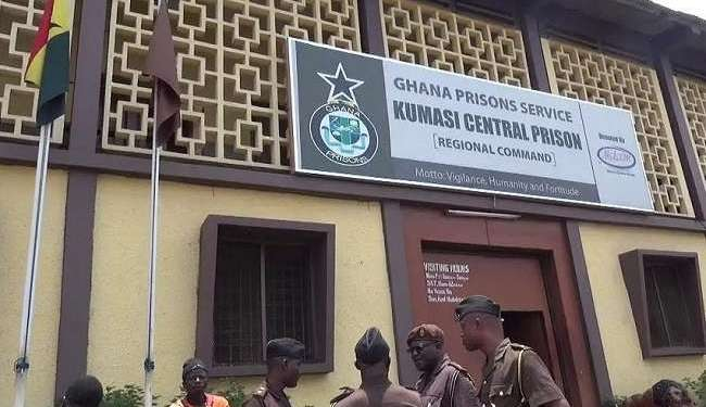 File: The Kumasi Central Prison in the Ashanti Region