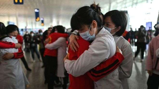 The Chinese city of Wuhan recently lifted its strict quarantine measures  photo: GETTY IMAGES
