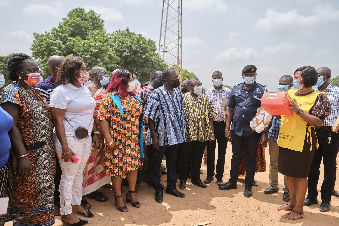 World's first ever Zipline delivery of Covid-19 vaccines in Ghana
