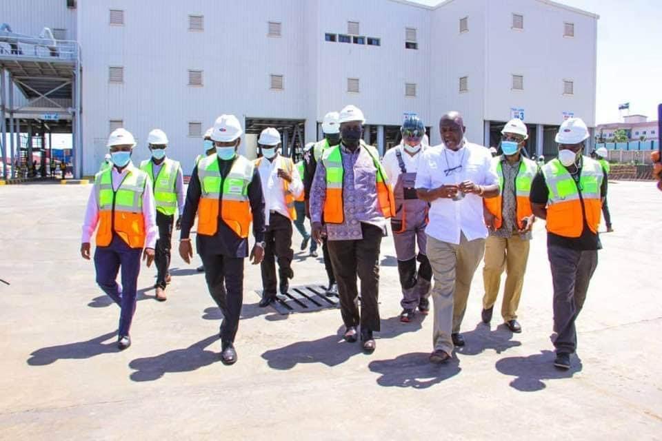 Alan visits Ibrahim Mahama's cement plant
