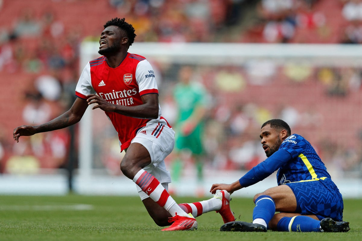 Thomas Partey injured in Arsenal friendly defeat to Chelsea