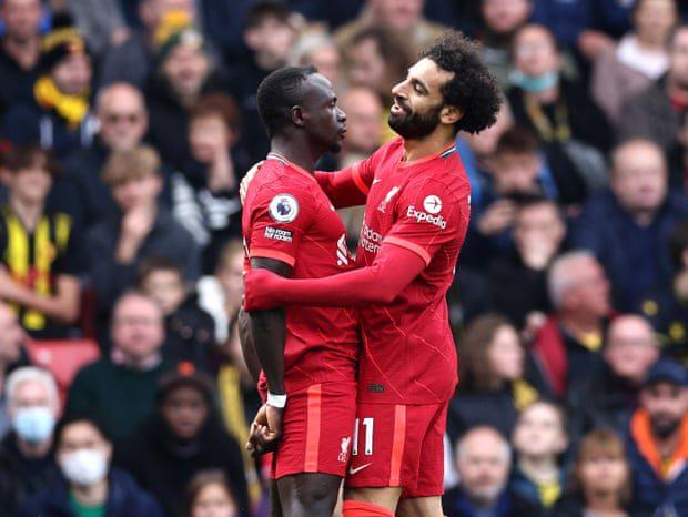 Mane scores 100th Premier League goal as Liverpool thrash Watford